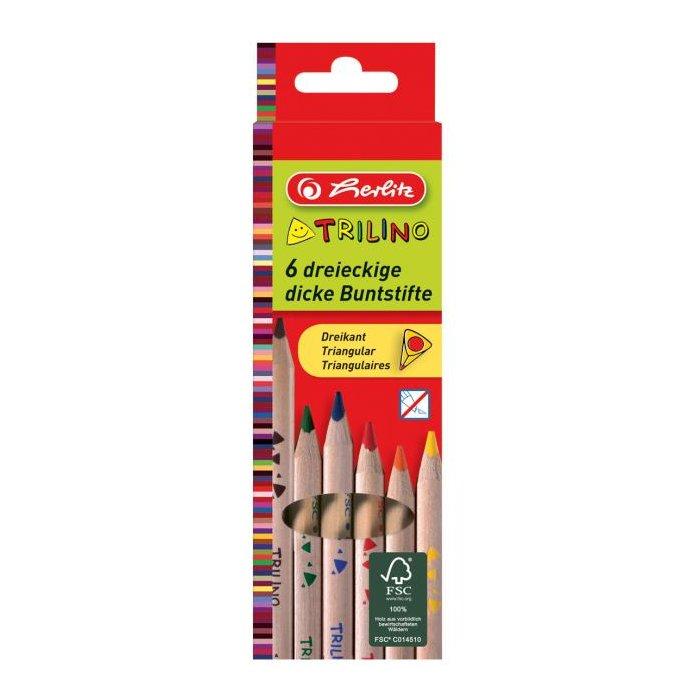272d23209 Farbičky Herlitz Trilino trojhranné 6 farieb | TRIOMAT